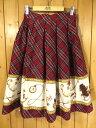 【中古】Innocent World/イノセントワールド ブリティッシュベア スカート サイズ:- カラー:レッド