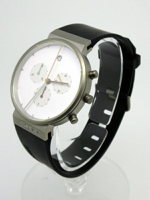 【】JACOB JENSEN/ヤコブイェンセン 腕時計 601 ホワイト×ブラック クォーツ ラバーベルト 【20170303★値下げ】