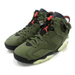 NIKE×TRAVIS SCOTT|ナイキ×トラビス・スコット AIR JORDAN 6 RETRO SP スニーカー CN1084-200 サイズ:27.5cm カラー:MEDIUM OLIVE/INFRARED-BLACK