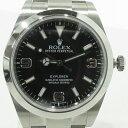 【中古】ROLEX|ロレックス エクスプローラー1 Ref.214270 自動巻き Cal.3132 ブラック×シルバー【f121】