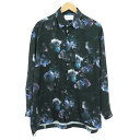 【中古】STUDIOUS|ステュディオス ダークフラワービッグシルエットシャツ 花柄 長袖シャツ ブラックなど サイズ:1【f104】
