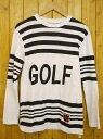 【中古】GOLF WANG/ゴルフワン 長袖Tシャツ サイズ:S カラー:ホワイト×ブラック