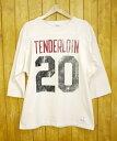 【中古】TENDERLOIN×Chanmpion/テンダーロイン×チャンピオン T-NFL/ナンバリングフットボール7分袖カットソー サイズ:L カラー:ホワイ...