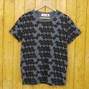 【中古】Ne-net/ネ・ネット にゃー総柄 半袖Tシャツ サイズ:2 カラー:グレー【f111】