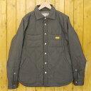 【中古】NATAL DESIGN/ネイタルデザイン Quilted Shirts3/キルテッドシャツ3 中綿ジャケット サイズ:M カラー:グレー【f092】