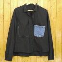【中古】SUNSEA/サンシー Reversible Cotton Shirt リバーシブル長袖シャツ サイズ:2 カラー:ブラック【f104】