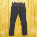 【中古】Nudie Jeans/ヌーディージーンズ ジップフライデニムパンツ サイズ:28 カラー:ネイビー【f113】