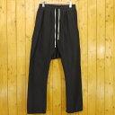 【中古】Rick Owens/リック オウエンス サルエルパンツ RU14S1380-SC サイズ:38 US カラー:ブラック【f107】
