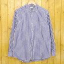 【中古】COMOLI/コモリ ギンガムチェック長袖シャツ サイズ:1 カラー:ブルー・ホワイト【f104】