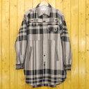 【中古】DIET BUTCHER SLIM SKIN/ダイエットブッチャースリムスキン Check stripe long shirt チェック柄 長袖 ロングシャツ DBG9507033 サイズ:2 カラー:グレー×ブラック【f096】