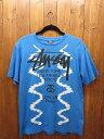 【中古】STUSSY/ステューシー S/S Tシャツ サイズ:M カラー:ブルー10P27May16