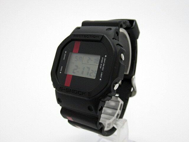 【】CASIO/カシオ G-SHOCK ジーショック Marlboro マルボロコラボ 腕時計 DW-5600VT ブラック×ブラック クォーツ 樹脂バンド 軟らかい