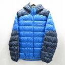 【中古】mont-bell/モンベル Down Guide Parka ダウンジャケット サイズ:XL カラー:ブルー系 / アウトドア【f092】