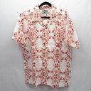 【中古】mont-bell/モンベル TAKEロハ コマクサ アロハシャツ半袖 サイズ:XL カラー:ホワイト/オレンジ / アウトドア【f100】