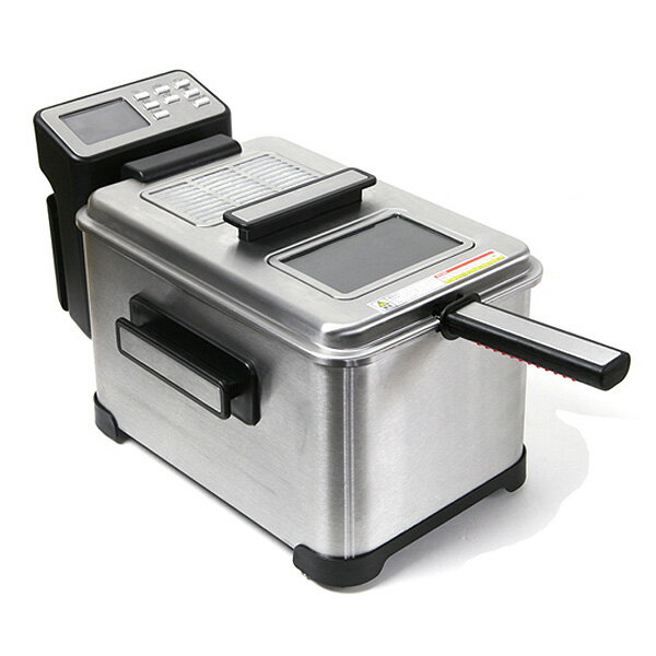 フライヤー電気フライヤー家庭用業務用大型4L高機能マイコン制御オート調理天ぷらから揚げポテト厨房機器