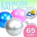 【送料無料】ヨガボール ボディボール バランスボール 空気入れ付き フィットネス/65cm/###ボール65CM/CQB###