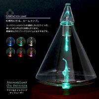 オイルディフューザーオイルアロマディフューザー精油LEDライト三角型ガラス木目調エッセンシャルオイルアロマリラックスリフレッシュ【送料無料】/###オイルアロマ384BR###