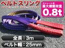 【送料無料】★耐荷0.8t◆25mm×3mナイロンスリングベルトスリング/###スリング紫3M-25MM☆###