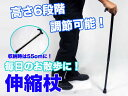 【送料無料】杖 伸縮 伸縮杖 74〜90cm 6段階 調節可能 散歩 介護/###伸縮杖DJSZ★###