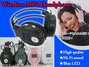 【送料無料】★MP3プレーヤー★ヘッドフォン一体型★ワイヤレス★SDカード対応/###ヘッドホン168/☆###