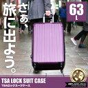 【送料無料】スーツケース TSAロック搭載 超軽量 頑丈 ABS製 63L [大型LMサイズ][5泊〜10泊]/ ###ケースLYP209-LM☆###
