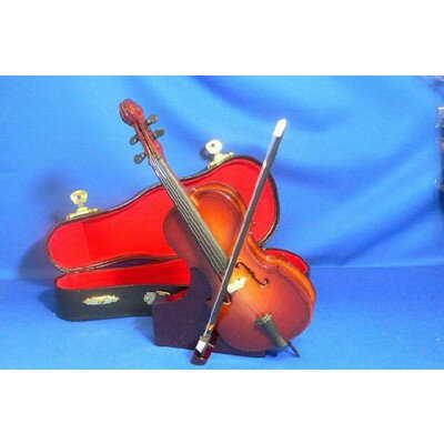ミニチュア楽器チェロ18cmRCPzn
