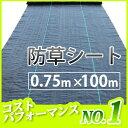 【2本セット】 防草シート 巾0.75m×長さ100m