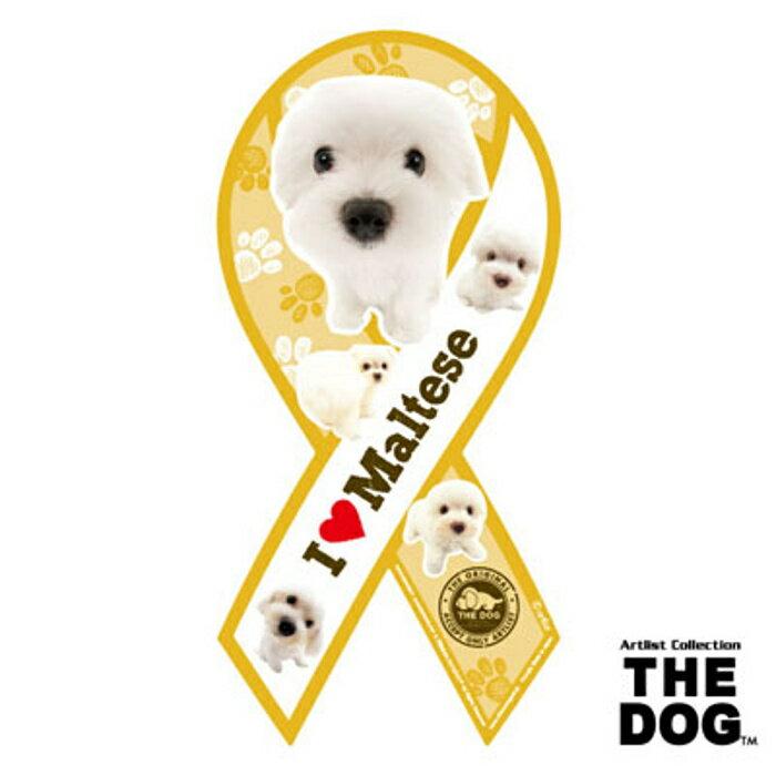 リボンマグネット THE DOG(ザ・ドッグ)マルチーズ 【メール便発送】【送料込】マグネット リボン ステッカー