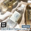 CBD 炭酸水 高純度25mg CBD R スパークリング ウォーター 500ml×6本セット カンナビジオール プレーン ビアフレーバ…