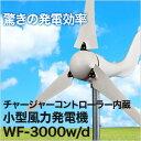 風力発電機セット 小型風力発電機 ウインドフォース WF-3000w/d12V 100Ah【コントローラー付き】 クリーンエネルギー 風力発電機キット