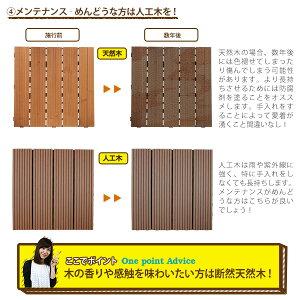 ウッドパネル27枚セットウッドデッキパネルウッドタイル木製タイルバルコニーやベランダに敷くだけで簡単にウッドテラスウッドデッキ組み立て簡単ジョイント式北欧ウッドパネルデッキガーデニングキット【02P02Mar14】