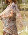 【再入荷♪11月13日22時より】(ブラウン)オリエンタル柄を纏うスカーフ