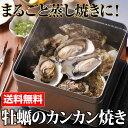牡蠣のカンカン焼きセット(殻付き牡蛎20個) 軍手・ナイフ付【送料無料】殻付き牡蛎 蒸しカキ 焼きかき