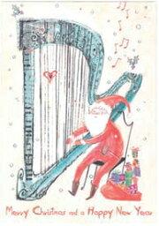 セール!X'mas BONTEMPI クリスマスカード サンタ/ハープ 340→272円