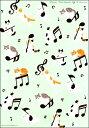 ねこ音楽ノート2(A4・12段)  【五線紙】B5変横判 シンコー
