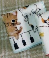 音楽雑貨★やまねこ プリントタオル 三匹猫とピ...の紹介画像2