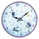 ◎掛置時計 ウォールクロック マジカルキャット JY8515-02 8890072 ジャストウィロー ミュージックスタンド兼用 時計 ピアノ 発表会記念品 音楽雑貨 ウオールクロック