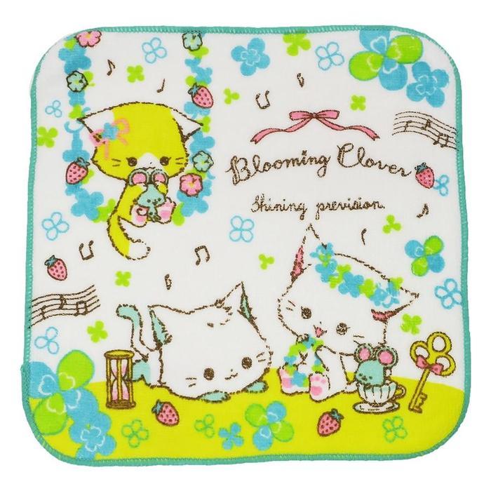 BLOOMING CLOVER ミニタオル ハンカチタオル  新入学 カミオジャパン 20×20cm 新学期 03859 カミオ 音楽雑貨