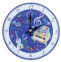 ◎2月掛置時計 ファンシーミュージック JY8515-03 8090134 ジャストウィロー ミュージックスタンド兼用 時計 ピアノ発表会記念品 音楽雑貨