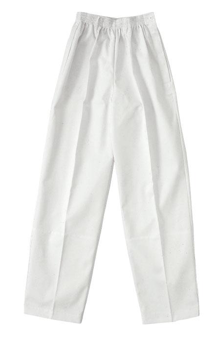 SM:20000ツータックパンツ 白 女性用 【SMT】作業服 ズボン 作業着