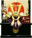 【五月人形 送料無料】久月作 家紋「緋絲縅兜」 コンパクト収納飾り《1007》