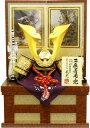【五月人形 送料無料】武光作 「立体大鍬形 子供着用兜」収納飾り《3242》