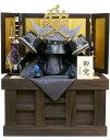 【15時迄のご注文で即日発送!】直江兼続の「愛」着用収納飾り。本物を忠実に再現した「二段錣造り」で焼桐造りの収納台が豪華。五月人形