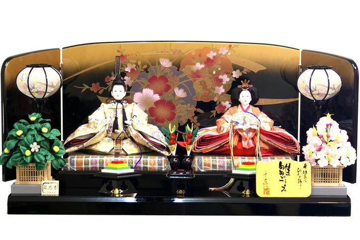 【雛人形 送料無料】千匠作 本仕立「雛ごよみ」 二人親王飾り 《44A-96》