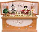 【雛人形 送料無料】久月作 刺繍「よろこび雛」二人親王 コンパクト収納飾り《S-29196》