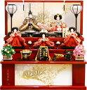 【雛人形 送料無料】久月作 「よろこび雛」 収納式 三段飾り《S-29233OU》