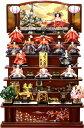 【雛人形 送料無料】久月作 「よろこび雛」木製 七段飾り《S-29521》