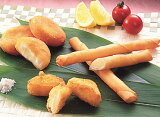 【チーズトリオ】3つの形が楽しい!ポテトちーずもちとカマンベールフライ2種
