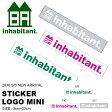 インハビタント inhabitant ステッカー ロゴ ミニ 3cm×23cm STICKER LOGO MINI シール IH118AZ92 ...