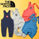 ショッピングロンパース 送料無料 ノースフェイス キッズ ベビー オーバーオール THE NORTH FACE Sweat Logo Overall スウェットロゴオーバーオール 2021春新作 ロンパース つなぎ パンツ nbb32103
